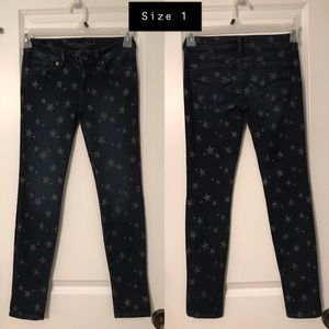 Starry Dark Wash Skinny Jeans from Pacsun size 1